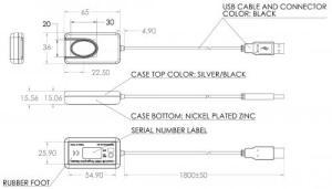 Huella digital - especificaciones mecanicas 4500b