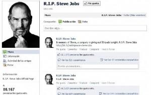 Huella digital - Fraude en la Web utilizando la muerte de Steve Jobs