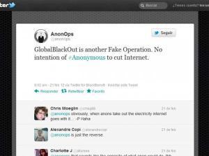 Huella digital - Anonymous niega que quiera apagar Internet por un día