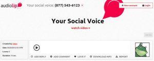 Huella digital - Audiolip, envía mensajes de voz a Twitter y Facebook