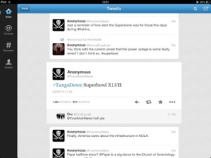 huella digital - Anonymous se adjudica apagón del Súper Bowl en Twitter