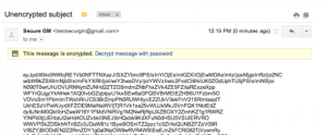 Un correo cifrado con SecureGmail