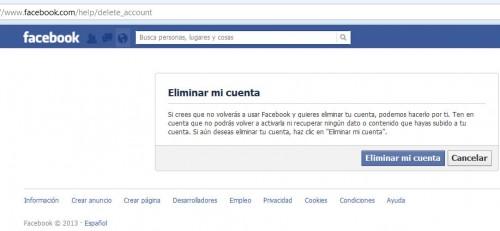 huella digital - Dar de baja o eliminar cuenta de Facebook (01)