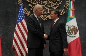 Foto: El vicepresidente de EU, Joe Biden, se reunió recientemenete cn Archivo Presidencia