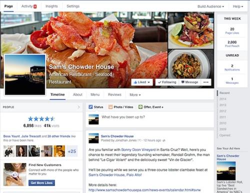 huella digital - Facebook cambia el diseño de sus páginas y las deja a una columna (1)