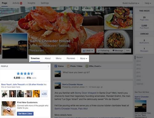 huella digital - Facebook cambia el diseño de sus páginas y las deja a una columna (2)