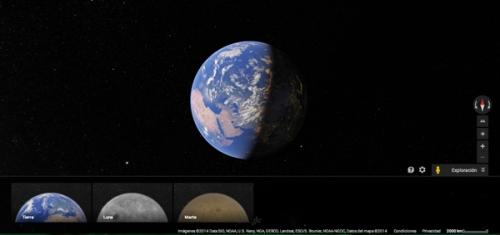 huella digital - Cómo explorar la superficie de la Luna y Marte con Google Maps