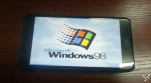 huella digital - Un hacker demuestra que el iPhone 6 Plus puede funcionar con Windows 98