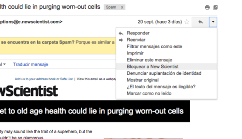 huella digital - Ya puedes bloquear a tus contactos indeseables en Gmail