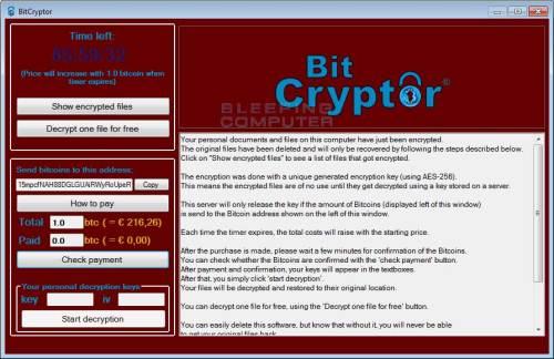huella digital - Herramienta para recuperar archivos cifrados con BitCryptory CoinVault 30 oct. 201