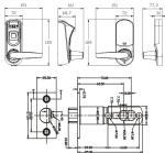 huella digital - cerradura L7000U dimensiones