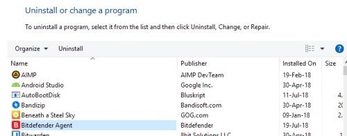 huella digital - Qué es Bitdefender Agent y por qué es recomendable desinstalarlo de Windows 10