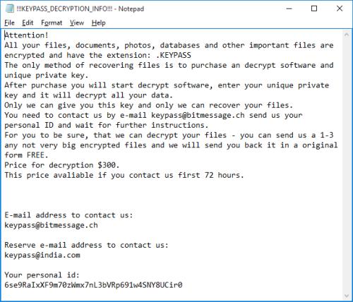 huella digital - KeyPass es el nuevo ransomware que se está tomando víctimas por todo el mundo; así puedes protegerte de él