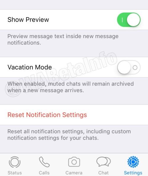 huella digital - Así son los modos vacaciones y silencio para que no te molesten en Whatsapp