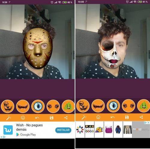 huella digital - Cómo hacerse fotos de Halloween con el Móvil