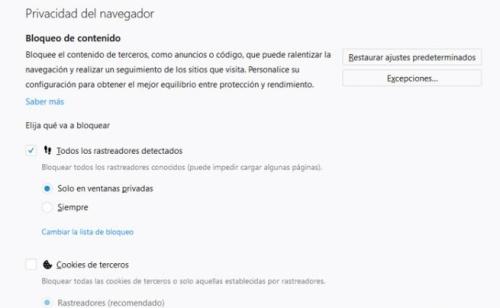 huella digital - Cómo personalizar y sacar provecho de la nueva función de seguridad y rastreo de Firefox 63