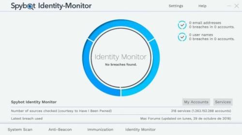 huella digital - Cómo saber si tu cuenta de correo ha sido robada con Spybot Identitiy Monitor