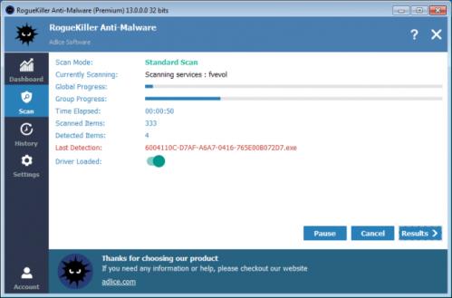 huella digital - RogueKiller mantén tu PC limpio de malware, gusanos, rootkits y falsos antivirus con esta aplicación