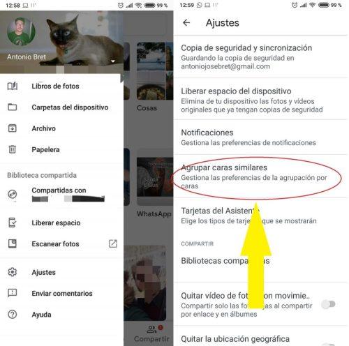 huella digital - Cómo activar el reconocimiento facial en Google fotos