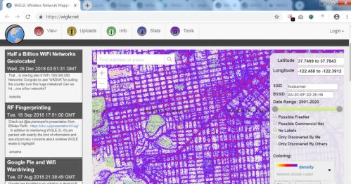 huella digital - Wigle – Encuentre cualquier Hotspot en Internet desde su móvil