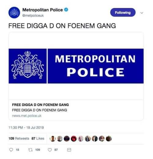 uella digital - Hackers toman control de la cuenta de Twitter de la policía de Londres