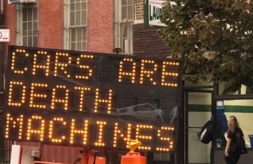 huella digital - Hackers modifican señales de tránsito en Nueva York a diario