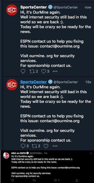 huella digital - Después del ataque a 15 equipos de la NFL, Hackers comprometen cuentas de Twitter e Instagram de Espn