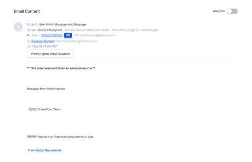 huella digital - Usuarios de Office 365 están recibiendo estos correos electrónicos de Phishing de Sharepoint